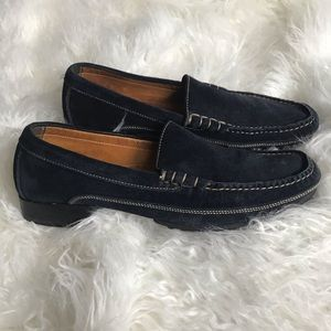 Cole Haan country navy blue suede loafers EUC